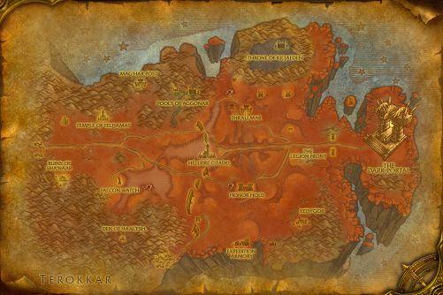Hellfire Peninsula map