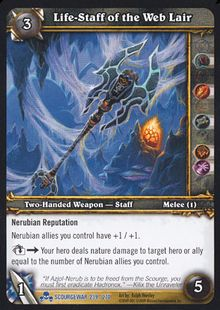 Life-Staff of the Web Lair TCG Card.jpg