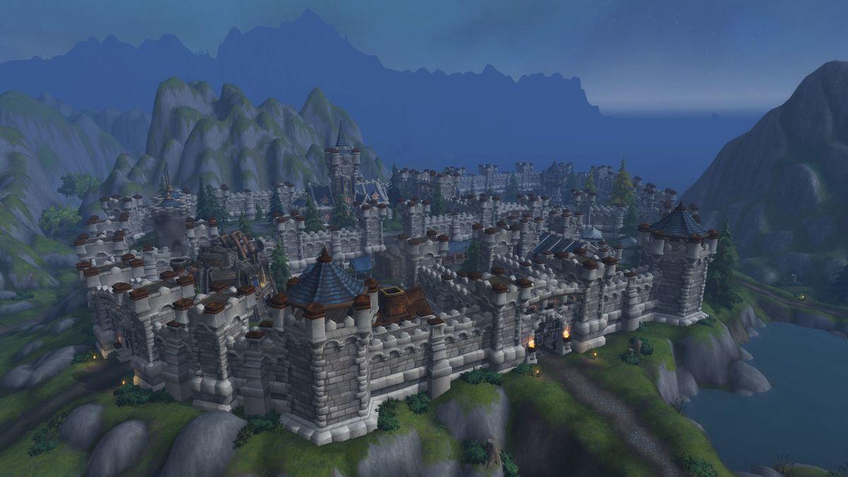 Fantasy Landscape Mountains Ruins