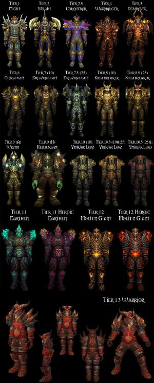 Warrior Tier Sets
