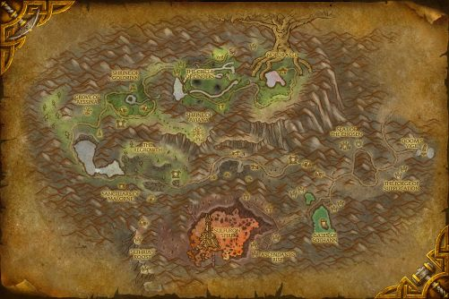 Mount Hyjal map