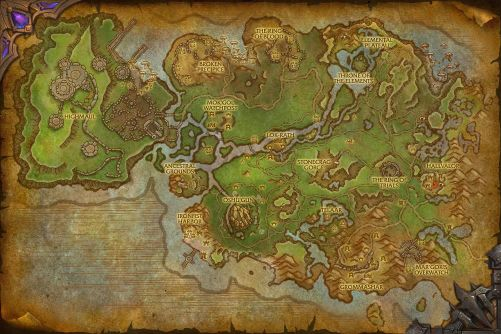 Nagrand (alternate universe) map