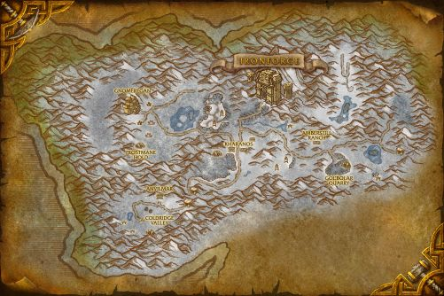 Dun Morogh map