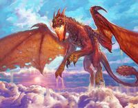 A red dragon