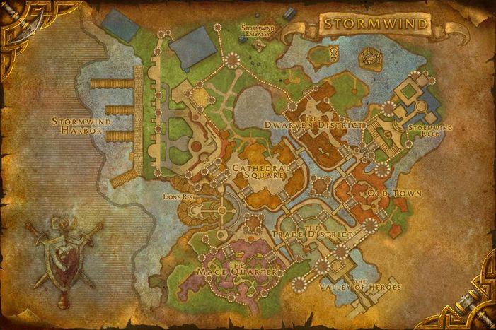 Stormwind City map