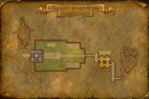 Scarlet Monastery Graveyard map