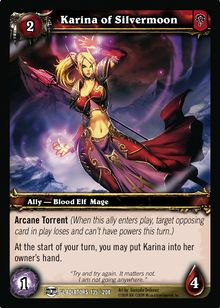 Karina of Silvermoon TCG Card.jpg