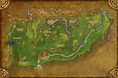 Valley of the Four Winds map