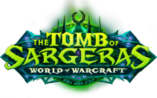The Tomb of Sargeras logo, with WoW text instead