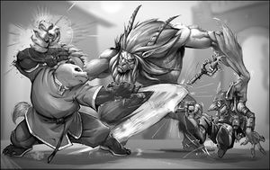 WoW RPG Pandaren vs Satyr by UdonCrew.jpg