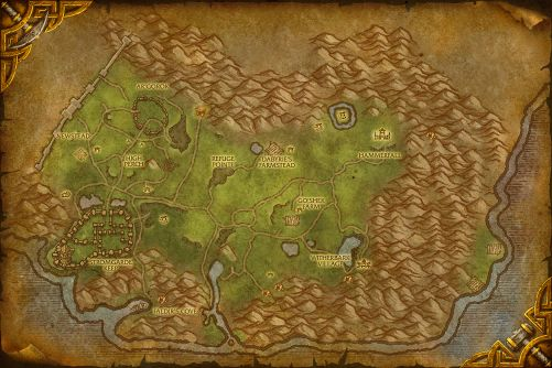 Arathi Highlands map