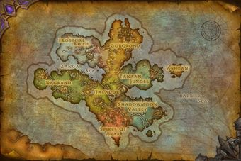 Wow Wod Map Draenor (alternate universe)   Wowpedia   Your wiki guide to the