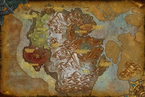 Drustvar map