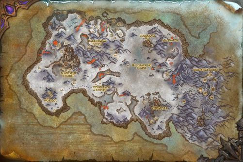 Frostfire Ridge map