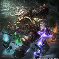 Artwork depicting a tauren shaman