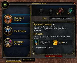 Dungeon Finder - Wowpedia - Your wiki guide to the World of Warcraft