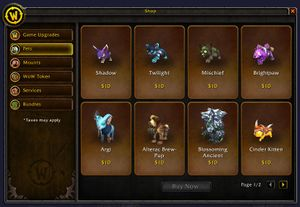 In-Game Store - Wowpedia - Your wiki guide to the World of Warcraft