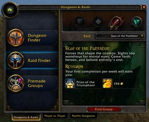 Raid Finder - Wowpedia - Your wiki guide to the World of Warcraft