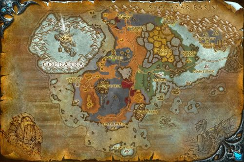Borean Tundra map