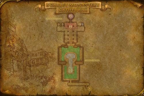 Scarlet Monastery Cathedral map