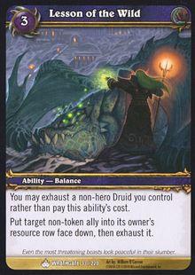 Lesson of the Wild TCG Card.jpg