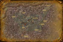 Mapa Płonącego Wąwozu