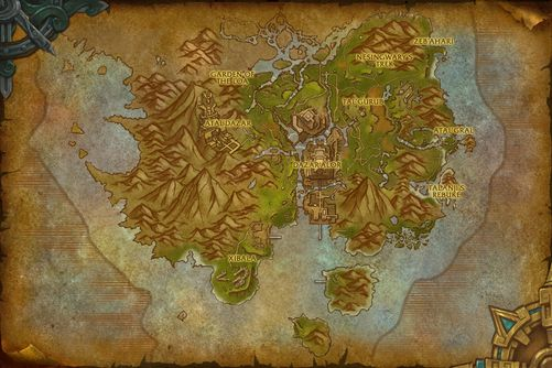 Zuldazar map