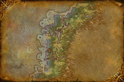 Darkshore map