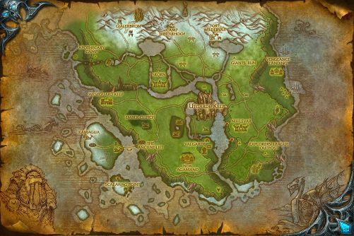 Howling Fjord map