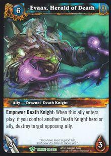 Evaax, Herald of Death TCG Card.jpg