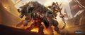 Dark Iron dwarf vs Mag'har orc wallpaper.jpg