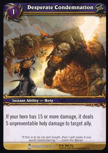 Desperate Condemnation TCG Card.jpg