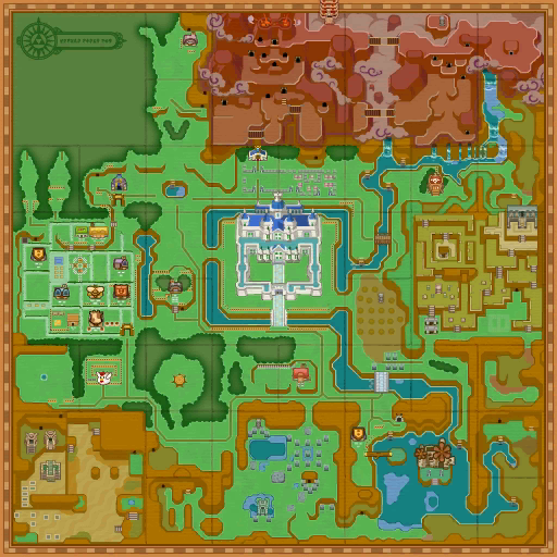 Link Between Worlds Map Places in A Link Between Worlds   Zelda Wiki