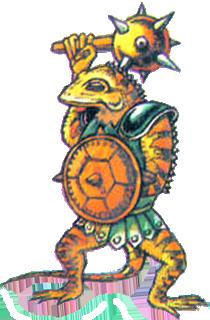 A Lizalfos wielding a mace