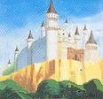 The North Palace as seen in an official artwork from the manual for The Adventure of Link