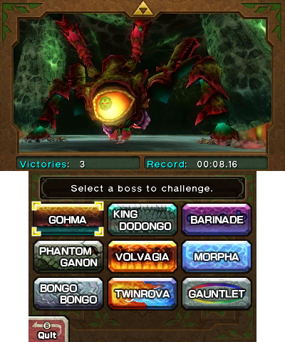 Boss Challenge - Zelda Wiki