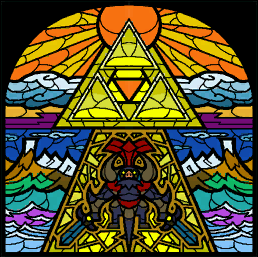 TWW Ganon Stained Glass.png