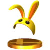 SSB3DS Bunny Hood Trophy Model.png