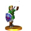SSB3DS Adult Link (Ocarina of Time) Trophy Model.png