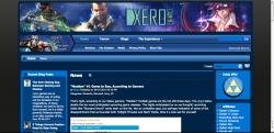 Screenshot of the current Xero Gaming homepage
