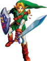 OoT Link Guarding Artwork.png