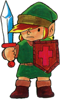 TLoZ Link Holding Sword and Shield Artwork.png