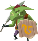 A green Bokoblin from The Wind Waker