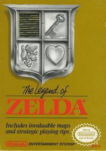 US boxart for The Legend of Zelda