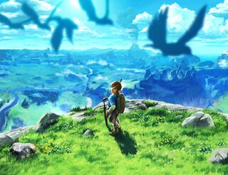 BotW Link and Birds Artwork.jpg
