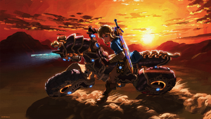 BotW Link Riding Master Cycle Zero Artwork.png