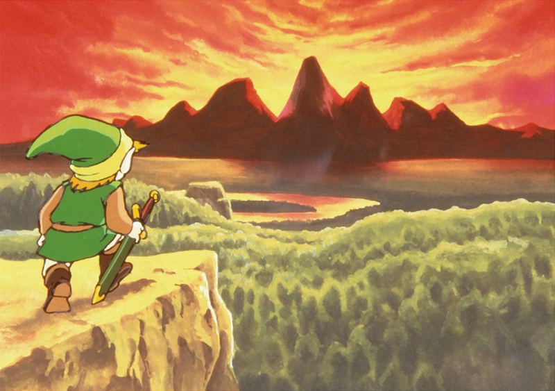 File:TLoZ Link Observing Hyrule Artwork.png