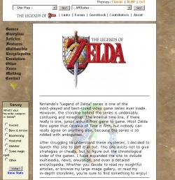 Screenshot of The Legends of Zelda, circa 2003