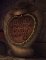 OoT Spirit Temple Entrance Snake Statue Right.png