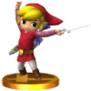SSB3DS Toon Link (Alt.) Trophy Model.png